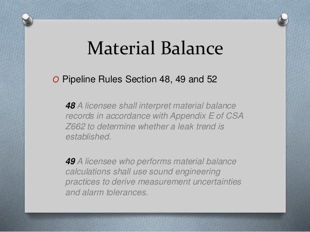 Pipeline integrity documentation