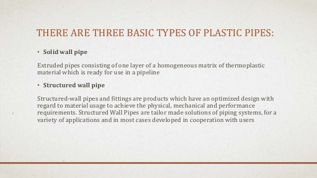 Pipe Manufacturing And Types