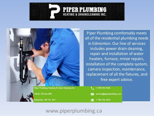 Best Plumber Edmonton | Drain Cleaning | Piper Plumbing