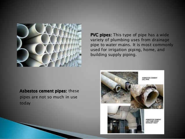 Pipes fittings fixtures and appliance