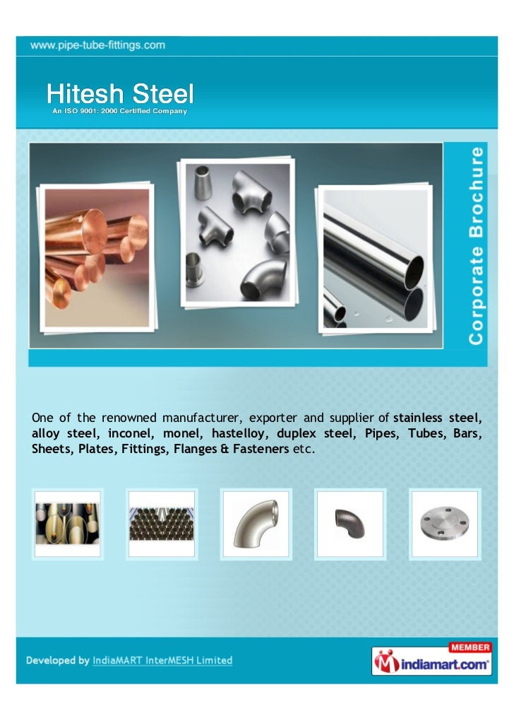 One of the renowned manufacturer, exporter and supplier of stainless steel,alloy steel, inconel, monel, hastelloy, duplex ...