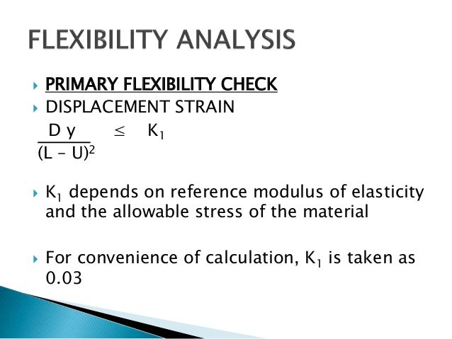 piping design and flexibility analysis Stress Formula Pipe Stress Calculation