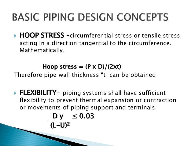 piping design and flexibility analysis rh slideshare net Stress Calculation in Bar piping stress analysis manual calculation xls