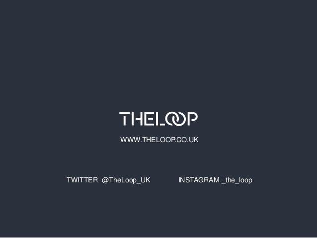 WWW.THELOOP.CO.UK  TWITTER @TheLoop_UK  INSTAGRAM _the_loop