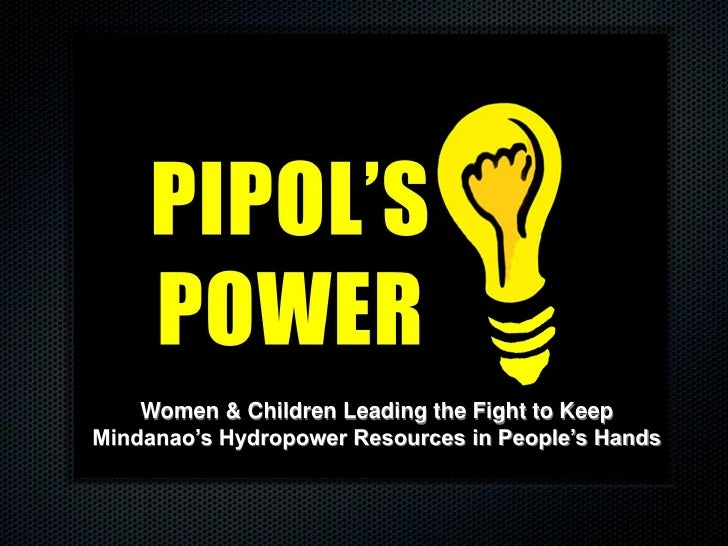 Women & Children Leading the Fight to KeepMindanao's Hydropower Resources in People's Hands