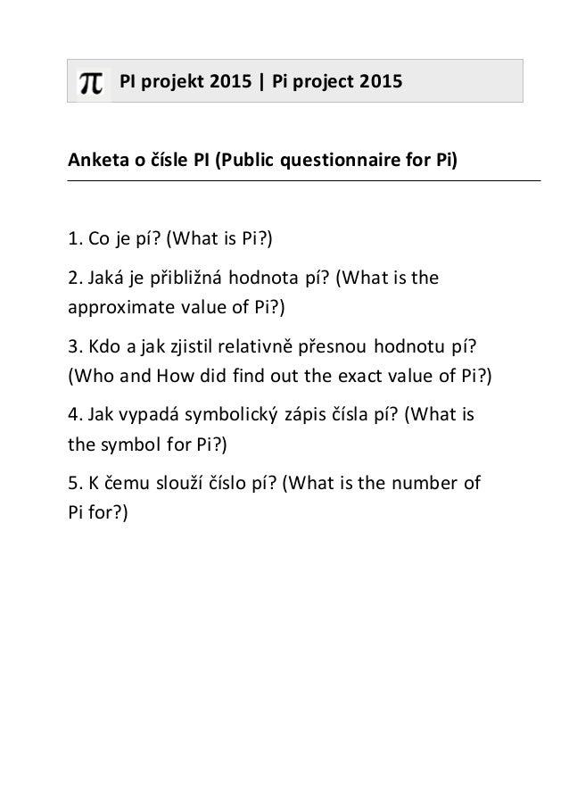 Pi Project Questionnaireczen