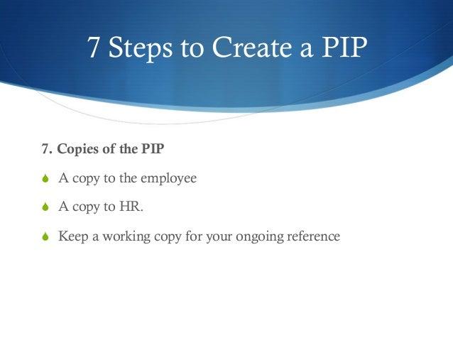 Employee Performance Improvement Plan PIP