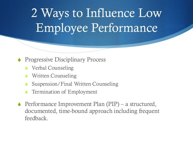 Employee Performance Improvement Plan Pip