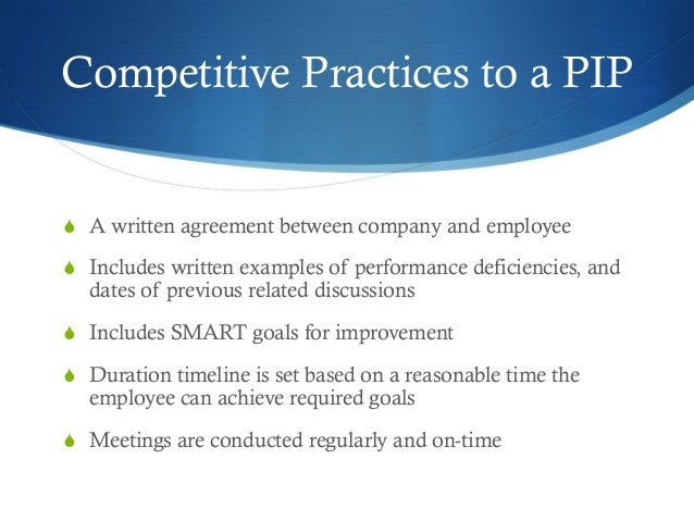 Employee Performance Improvement Plan PIP – Sample Employee Performance Improvement Plan Template