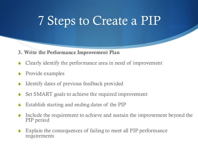 SlideShare  Example Of Performance Improvement Plan
