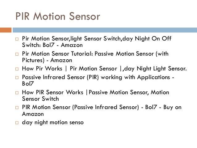 Pir Motion Sensor,light Sensor Switch,day Night On Off