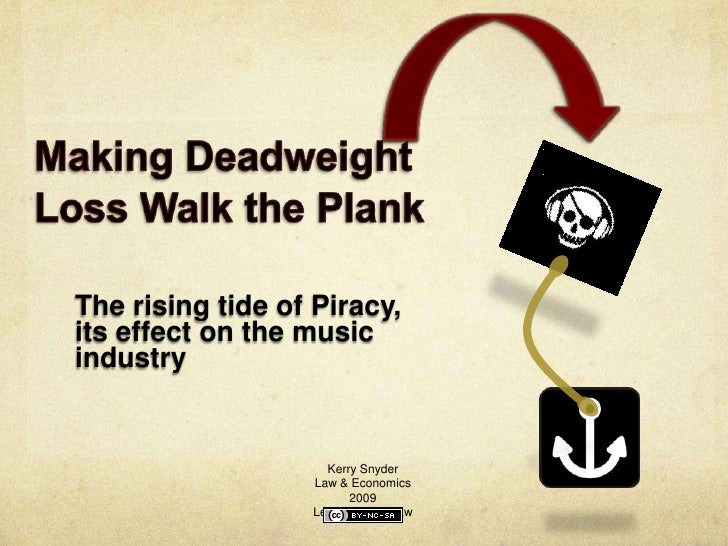 The rising tide of Piracy, its effect on the music industry                       Kerry Snyder                   Law & Eco...