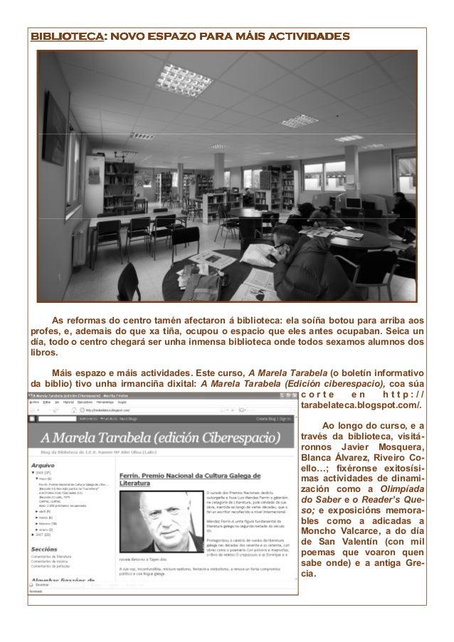 BIBLIOTECABIBLIOTECABIBLIOTECABIBLIOTECA: NOVO ESPAZO PARA MÁIS ACTIVIDADES: NOVO ESPAZO PARA MÁIS ACTIVIDADES: NOVO ESPAZ...