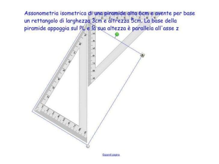 Piramide a base rettangolare Assonometria Isometrica