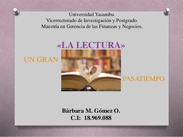 Universidad Yacambu. Vicerrectorado de Investigación y Postgrado. Maestría en Gerencia de las Finanzas y Negocios. «LA LEC...