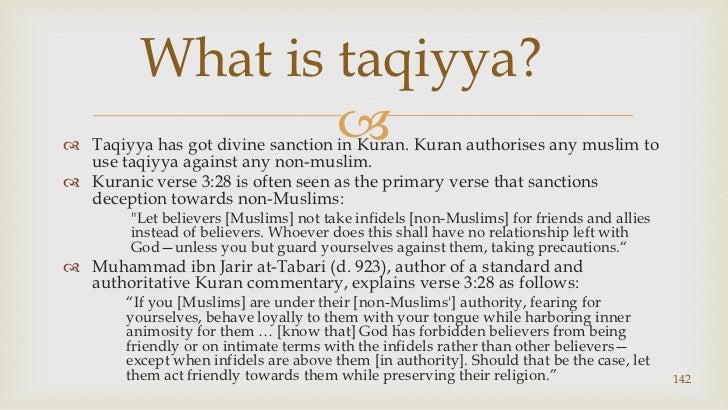 Taqiyya has got divine sanction in Kuran. Kuranauthorises any muslim to use taqiyya against any non-muslim.<br />Kuranic v...