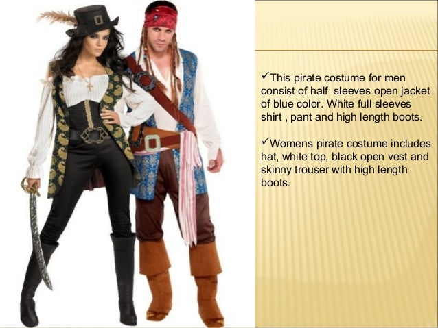 4. ?This pirate costume ...  sc 1 st  SlideShare & Pirate Costumes for Men and womens Pirate Outfits