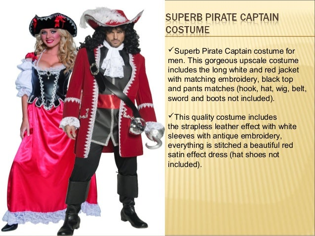 Deluxe Pirate Costume; 7.  sc 1 st  SlideShare & Pirate Costumes for Men and womens Pirate Outfits