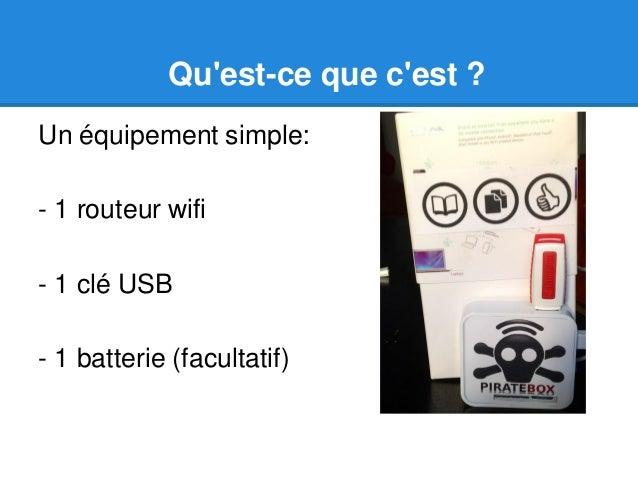 PirateBox en bibliothèques Slide 2