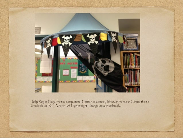 Classroom Ceiling Decoration Ideas ~ Pirate theme decoration in the elementary learning commons