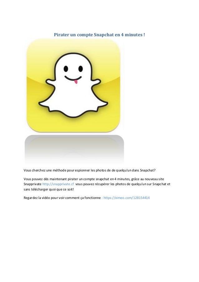 Pirater un compte snapchat gratuit