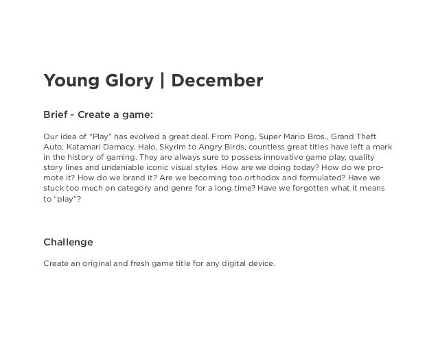 """Young Glory 