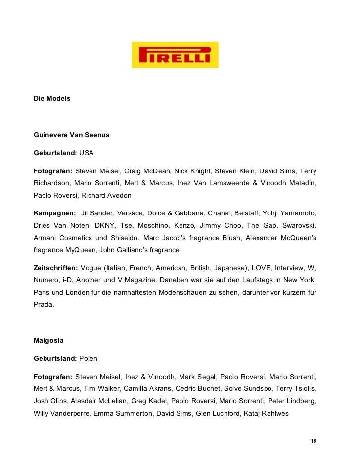 Die ModelsGuinevere Van SeenusGeburtsland: USAFotografen: Steven Meisel, Craig McDean, Nick Knight, Steven Klein, David Si...