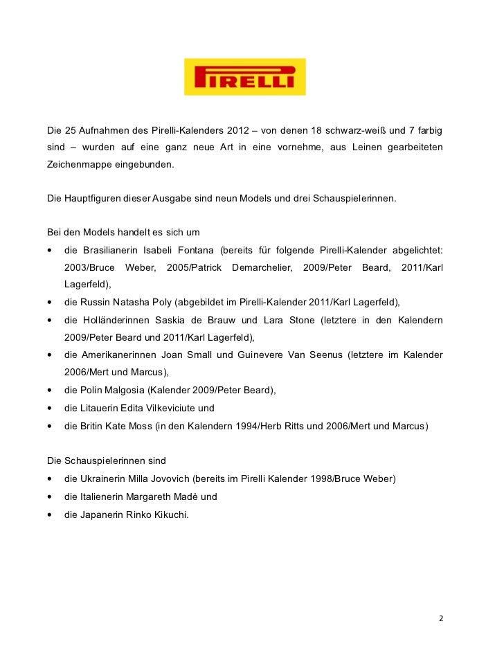 Die 25 Aufnahmen des Pirelli-Kalenders 2012 – von denen 18 schwarz-weiß und 7 farbigsind – wurden auf eine ganz neue Art i...