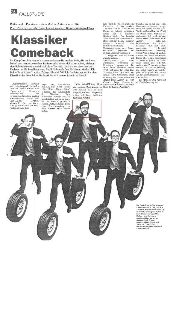 76 FALLSTUDIE M'tCr Nr. 42/16. Oktober 1987 rern bestens zu gefallen: Ihr Entzücken ob der nackten Tatsachen, die die Karo...
