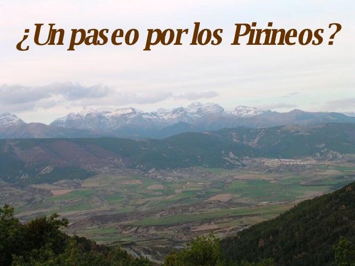 ¿Un paseo por los Pirineos?