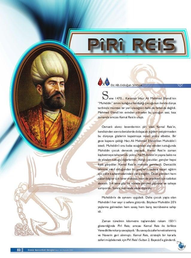 """Deniz Kuvvetleri Dergisi Sayı: 612 Kasım 201152  Sene 1470... Karamalı Hacı Ali Mehmed Efendi'nin """"Muhiddin"""" ismini kulağ..."""