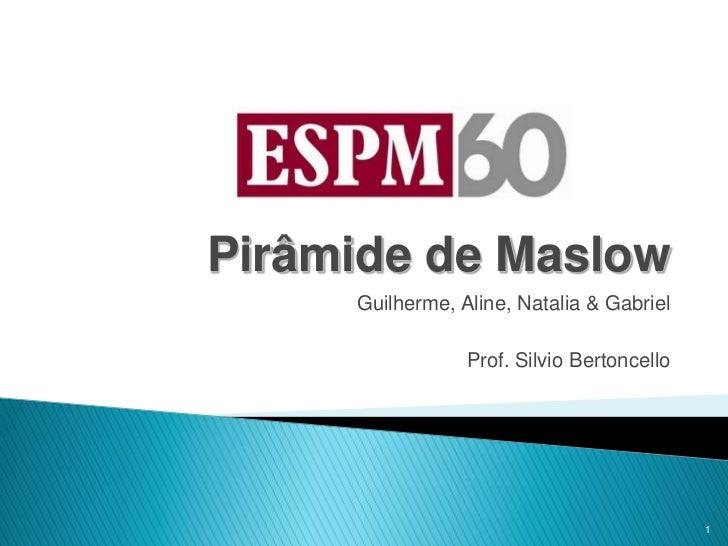 Pirâmide de Maslow     Guilherme, Aline, Natalia & Gabriel                 Prof. Silvio Bertoncello                       ...