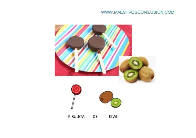 WWW.MAESTROSCONILUSION.COM PIRULETA DE KIWI