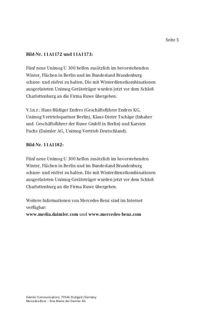 Seite 5%LOG1U $ XQG $Fünf neue Unimog U 300 helfen zusätzlich im bevorstehendenWinter, Flächen in Berlin und im Bundesland...