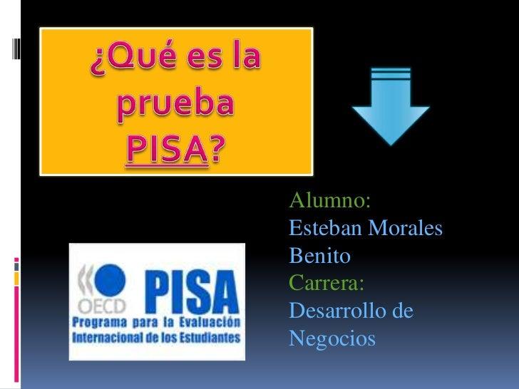 Alumno:Esteban MoralesBenitoCarrera:Desarrollo deNegocios