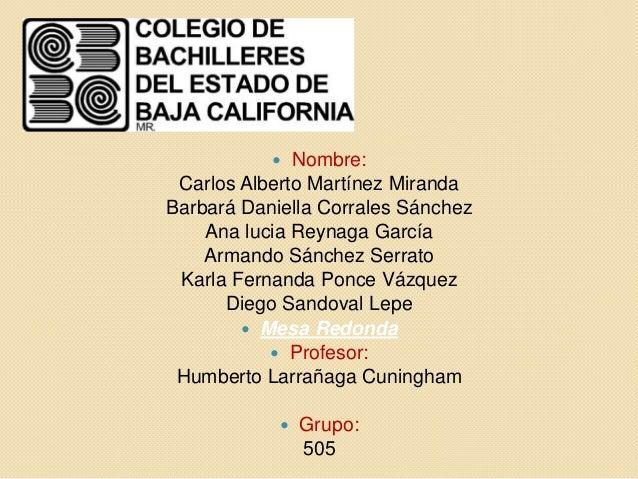   Nombre: Carlos Alberto Martínez MirandaBarbará Daniella Corrales Sánchez    Ana lucia Reynaga García    Armando Sánchez...