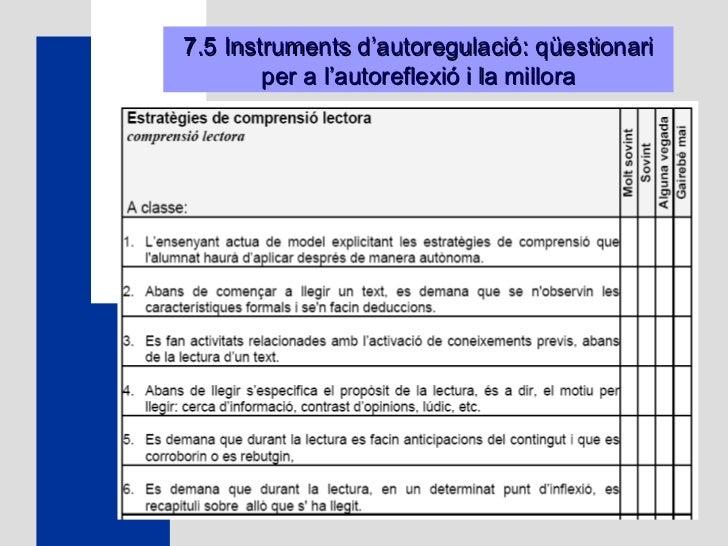 7.5 Instruments d'autoregulació: qüestionari per a l'autoreflexió i la millora
