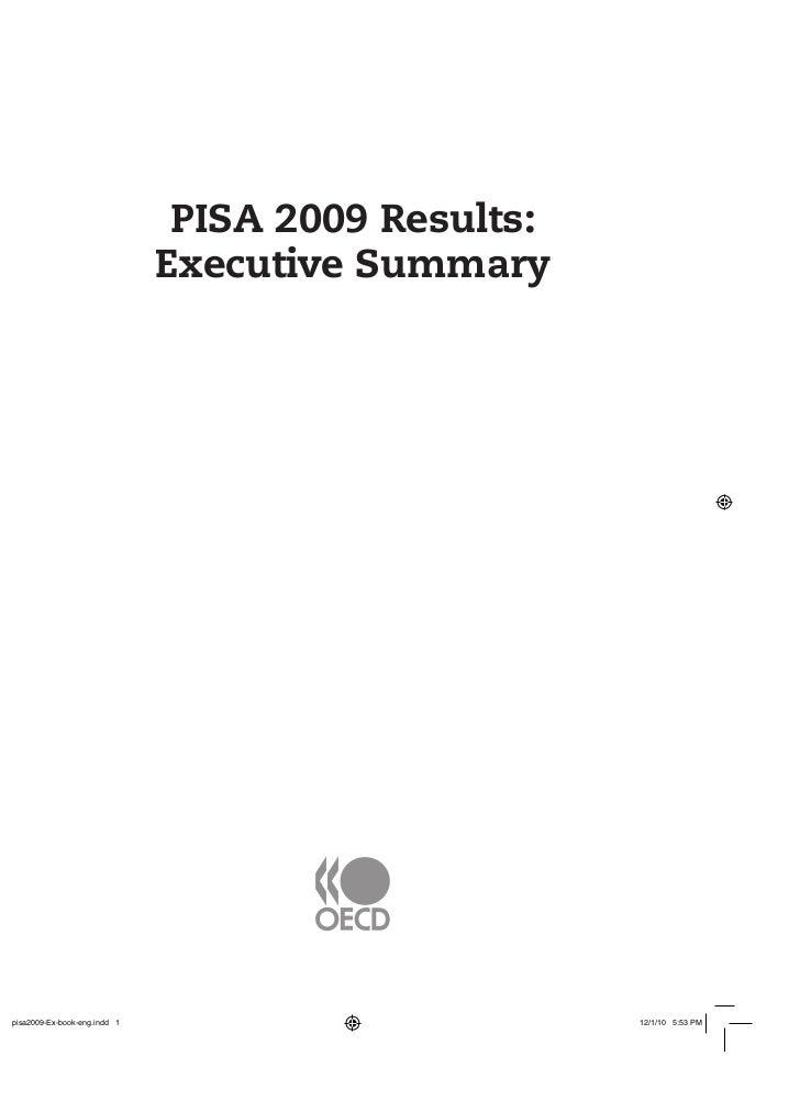 PISA 2009 Results:Executive Summary