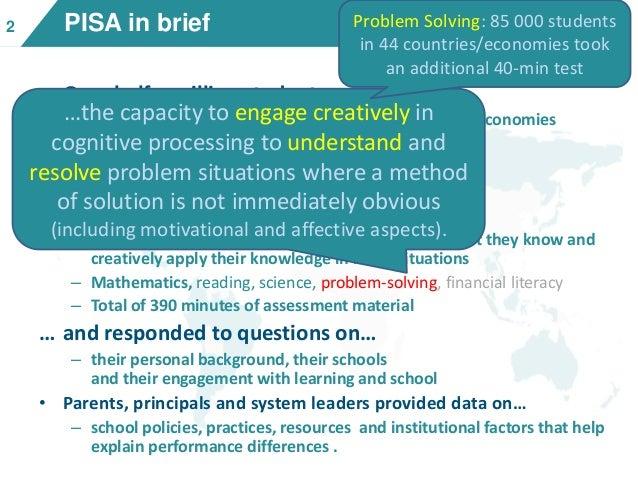 PISA 2012 - Creative Problem Solving: Students\' skills in tackling re…