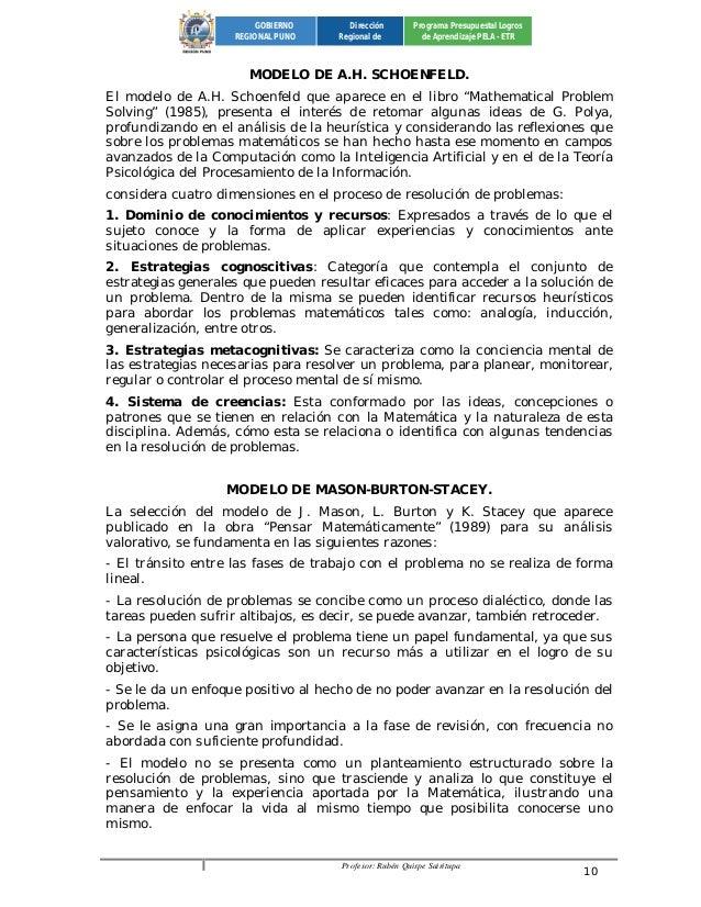 Profesor: Rubén Quispe Sairitupa 10  GOBIERNO  REGIONAL PUNO  Dirección  Regional de  Programa Presupuestal Logros  de Apr...