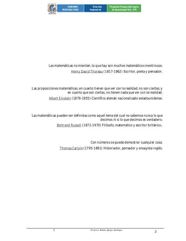 Profesor: Rubén Quispe Sairitupa 2  GOBIERNO  REGIONAL PUNO  Dirección  Regional de  Programa Presupuestal Logros  de Apre...