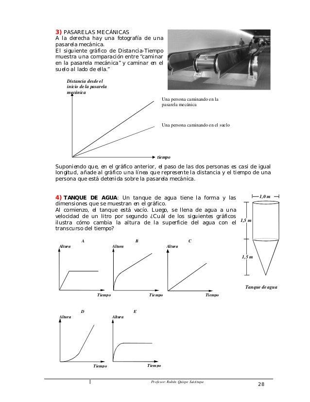 3) PASARELAS MECÁNICAS  A la derecha hay una fotografía de una  pasarela mecánica.  El siguiente gráfico de Distancia-Tiem...