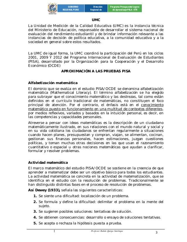 Profesor: Rubén Quispe Sairitupa 3  GOBIERNO  REGIONAL PUNO  Dirección  Regional de  Programa Presupuestal Logros  de Apre...