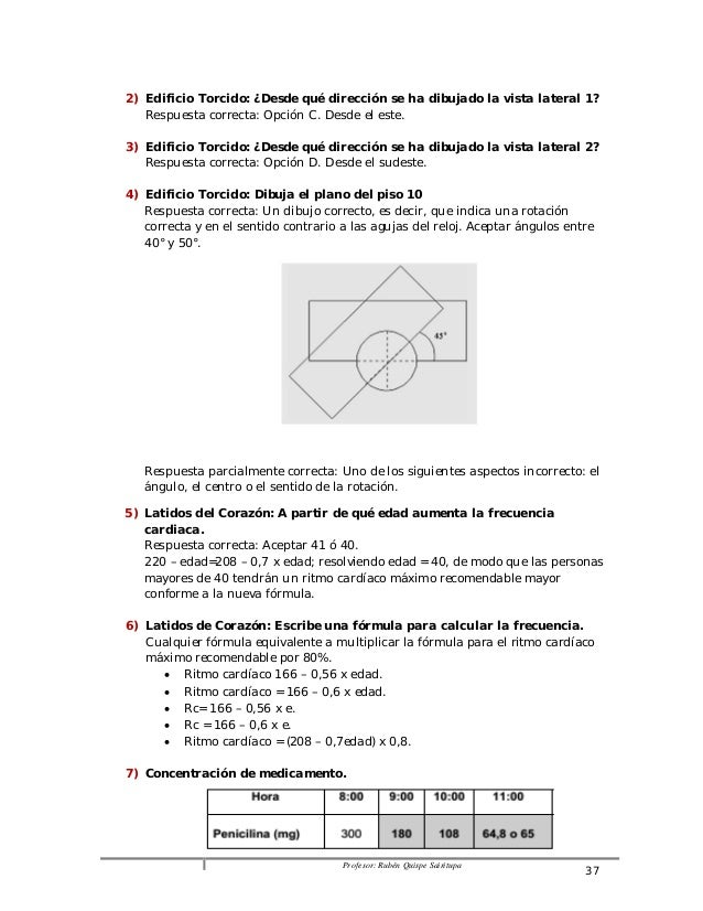 2) Edificio Torcido: ¿Desde qué dirección se ha dibujado la vista lateral 1?  Respuesta correcta: Opción C. Desde el este....