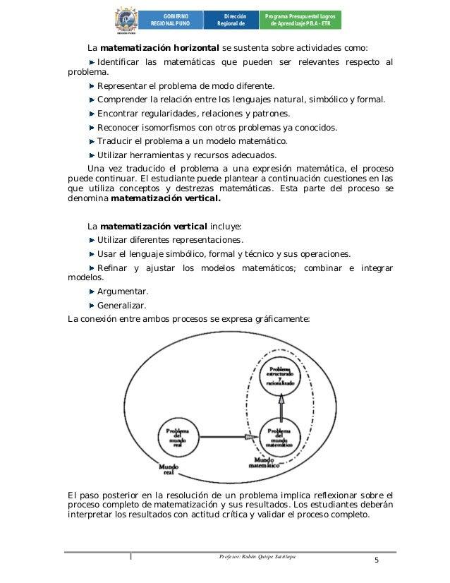 Profesor: Rubén Quispe Sairitupa 5  GOBIERNO  REGIONAL PUNO  Dirección  Regional de  Programa Presupuestal Logros  de Apre...