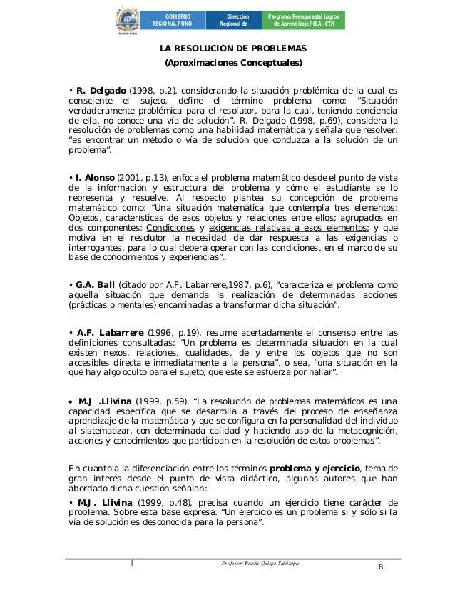 Profesor: Rubén Quispe Sairitupa 8  GOBIERNO  REGIONAL PUNO  Dirección  Regional de  Programa Presupuestal Logros  de Apre...