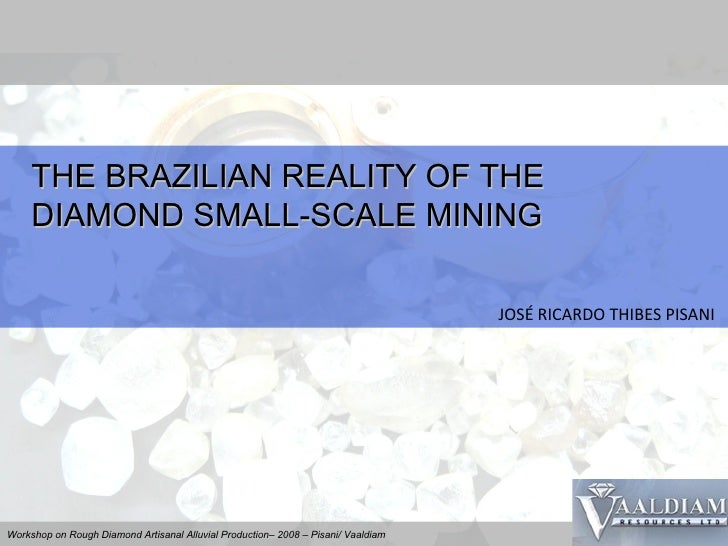 THE BRAZILIAN REALITY OF THE DIAMOND SMALL-SCALE MINING JOSÉ RICARDO THIBES PISANI