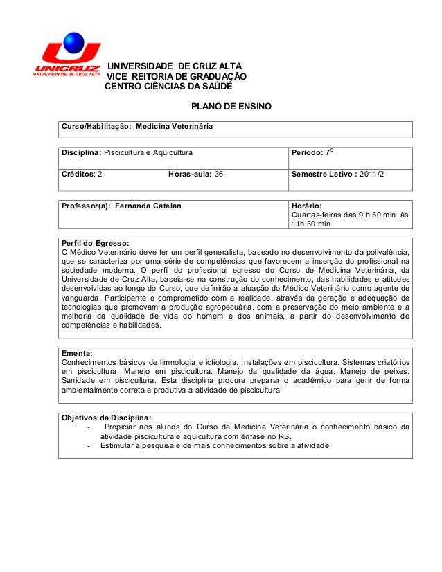 UNIVERSIDADE DE CRUZ ALTA              VICE REITORIA DE GRADUAÇÃO              CENTRO CIÊNCIAS DA SAÚDE                   ...