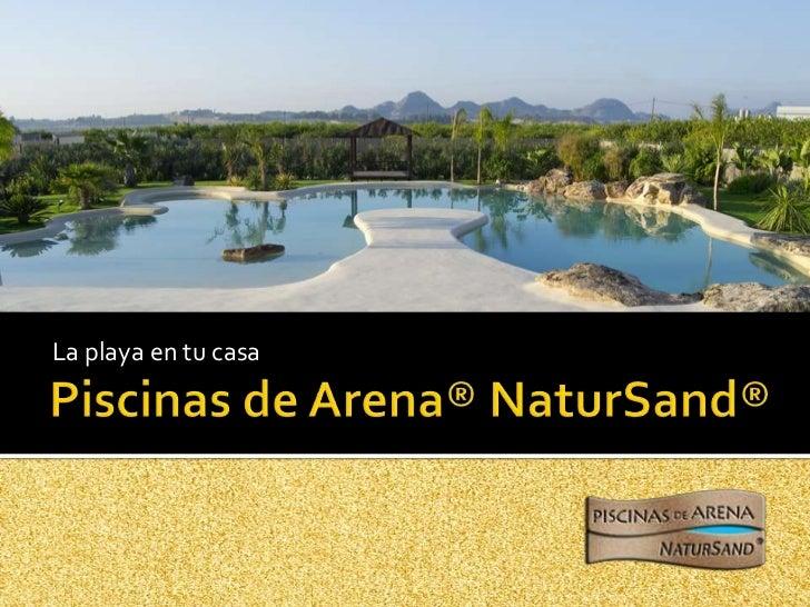 Piscinas de arena natur sand for Piscinas de arena natursand