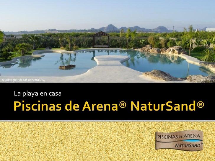 Piscinas de arena natursand Piscina arena compactada